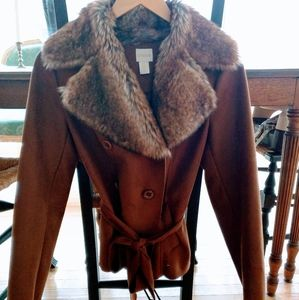 Chico's Faux Fur Coat! Beautiful and Soft!